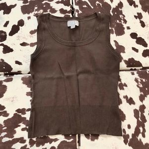 LOFT Brown Sweater Tank Top